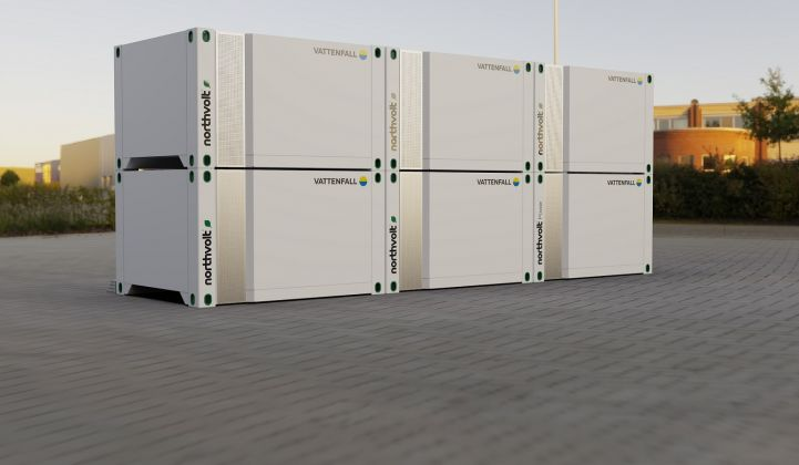 Individual Voltpack Mobile units can be grouped into hubs to achieve megawatt scale. (Credit: Northvolt)